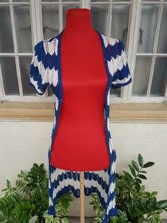 Missoni Inspired Knit Long Cardigan