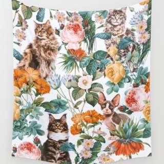 北歐藝文現代藝術創意掛布蓋巾壁飾