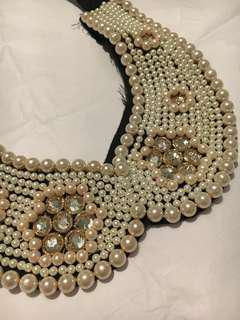 Beaded Collar Choker Necklace