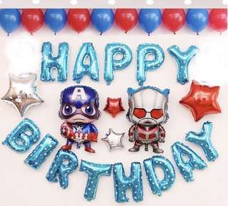 <In-stock> Happy Birthday Party Decoration set - Avengers A