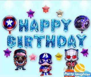 <In-stock> Happy Birthday Party Decoration set - Avengers Set B