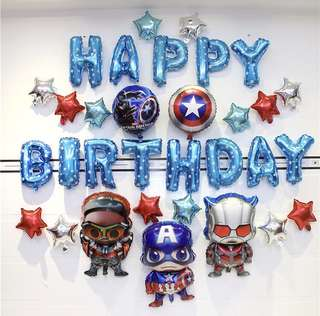 <In-stock> Happy Birthday Decoration Party Set -Avengers set C