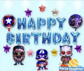 <In-stock> Happy Birthday Decoration Party Set -Avengers set B