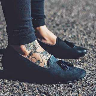 Bared Footwear Starling Loafers in Black Nubruck, BNWT, Size 37