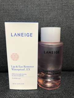 BNIB Laneige Lip & Eye Makeup Remover Waterproof