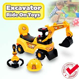 🚚 Excavator Ride On Toy / Baby Learn To Walk / Push Toys / Toy Cars