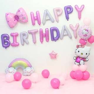 Happy Birthday Decoration set - hello Kitty set F