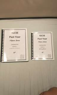 IGCSE Past Year Papers: Chemistry Paper 1(0602)