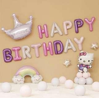 Happy Birthday Party Decoration set - hello Kitty set E