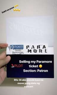 PARAMORE TICKET PATRON