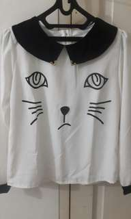 #maudecay Cat lover blouse
