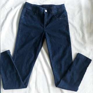 11-12 girls blue jeans denim pants