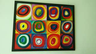Replica of famous painting - Squares with Concentric Circles (1913) by Wassily Kandinsky
