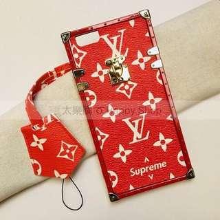 🚚 《全新現貨》iPhone6+ 紅色經典花紋掛繩手機殼 iPhone6 plus 5.5