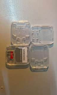 Clear case for memory card and its adaptor, Free Postage