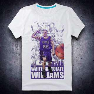 經典NBA球星 T Shirt Jason Williams 短袖 tee 男裝 中性