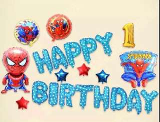 <In-stock>Happy Birthday Party Decoration set -Spiderman C