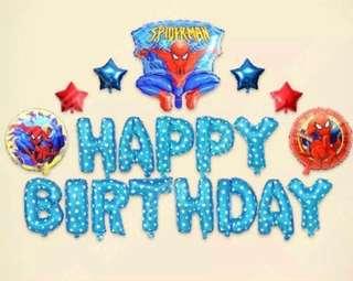 <In-stock>Happy Birthday Party Decoration set -Spiderman B