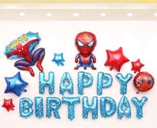<In-stock>Happy Birthday Party Decoration set -Spiderman A