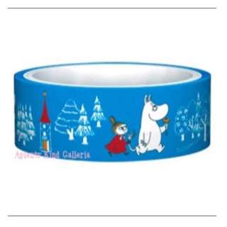 BNIP MOOMIN Dark Blue Funtape Washi Tape