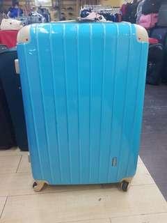 Luggage Bag Large up to 35 kilos blue suitcase travelling bag