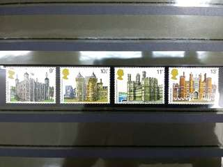 British Royal Mail Mint Stamps: British Architecture (Historic Buildings), 1st Mar 1978, Set of 4 in fine mint condition (Great Britain GB)