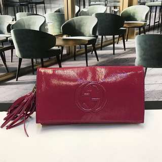 Gucci Patent Leather Clutch