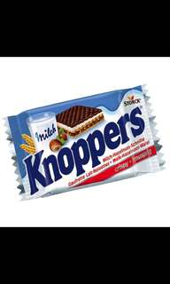 Knoppers牛奶榛果巧克力威化餅