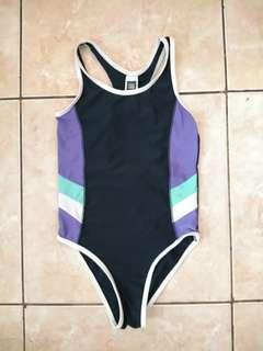 Baju Renang Anak Perempuan 6 tahun (Girls Swimsuit) Navy - Active&co
