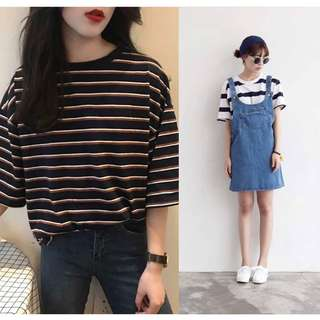 Korean loose striped shirt 💖
