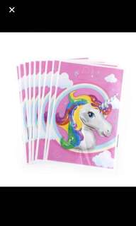 10 pcs unicorn party goodie bag