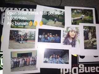 Open order cetak foto polaroid cuma 1.000/foto