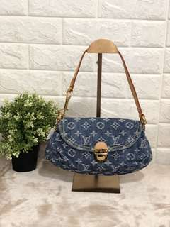 Louis Vuitton Mini Pleaty Blue Shoulder Handbag