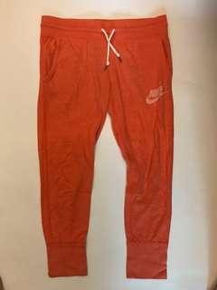 Nike橘色休閒運動褲