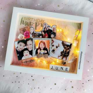 Personalised 3D Photo Frame (Be Happy Be bright)