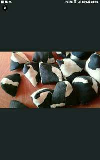 Black and white cow Five Stones   Code cw 004  .batu seremban  five stones  As featured in Northeast zone Vibes magazine, Zaobao newspapers   fabric five stones  As featured in Northeast zone Vibes magazine, Zaobao newspapers   Children Party Favours Five