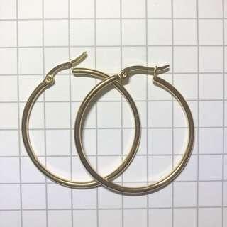 韓圈網紅時尚金屬感少女圈圈耳環