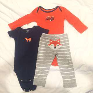 Carter's Jumpsuit Pants Celana Set 12m