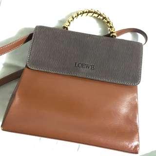 Authentic Loewe vintage leather Caramel Tote Bag 90%new