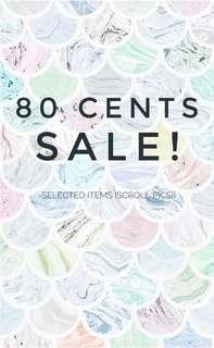 80 cents sale! 🎈
