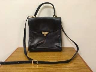 Nina Ricci black leather bag 正貨真皮