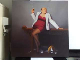 Picture #2--Smoking Woman...oil painting