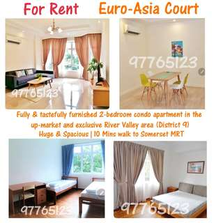 Euro-Asia Court - 2 bedrooms For Rent (10 mins to Somerset MRT)