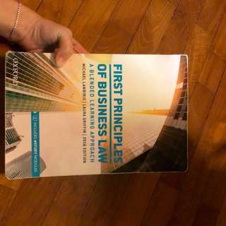 First Principles of Business Law Textbook