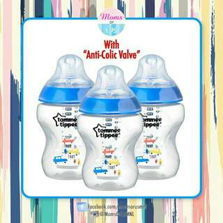 ‼️NEW‼️TOMMEE TIPPEE CTN Decorated Bottles 9oz/260ml 3pack