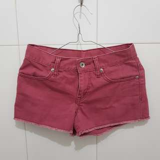 Uniqlo Red Hotpants