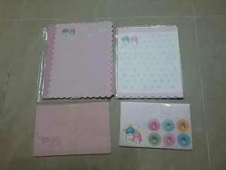 1999年 sanrio twin stars 兩 set 信紙信封套裝 罕有 絕版  全新 正版