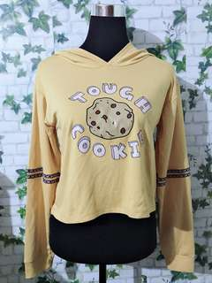 Mustard Yellow Semi Crop Top Hoodie (Brand New)