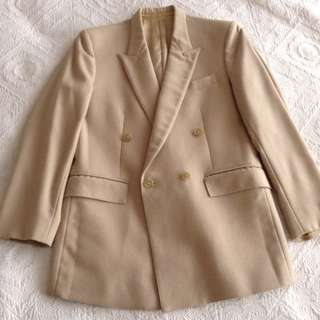 Light brown double breast jacket