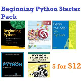 ebook: Beginning Python starter Pack 5x Books combo